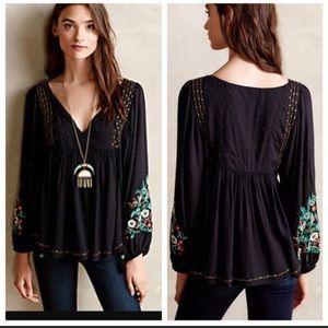 Anthropologie Austrail peasant blouse